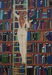 Art: Nude on A Ladder by Emily J White
