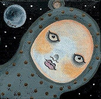Art: To The Moon by Artist Sherry Key
