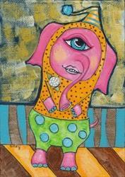 Art: Elephant Clown by Artist Sherry Key