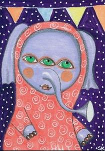 Detail Image for art Elephant Clown