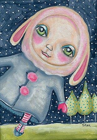 Art: Snow Bunny by Artist Sherry Key
