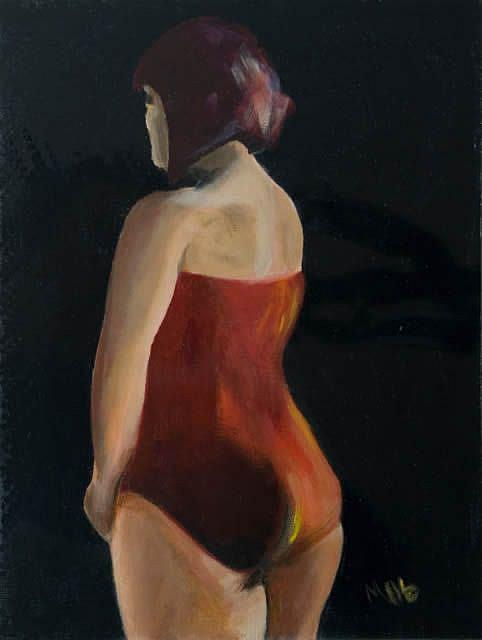 Art: Glenda thinks of ditching her pudding form by Artist Gabriele Maurus