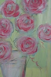 Detail Image for art Roses on Green - Sold