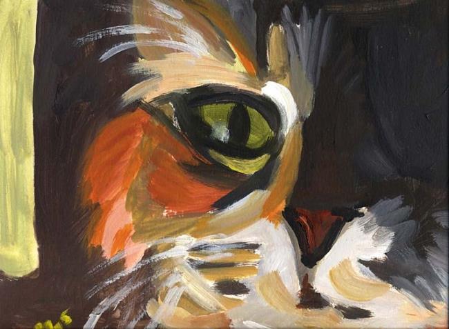 Art: Katz, nah by Artist Gabriele Maurus