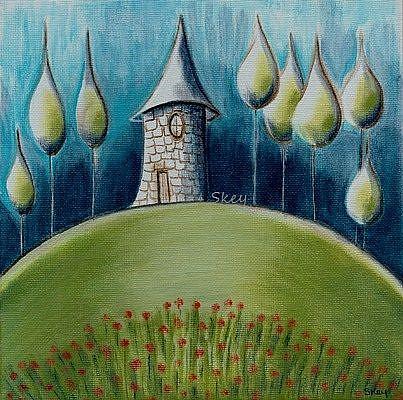 Art: Surreal Castle Landscape-Sold by Artist Sherry Key