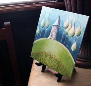 Detail Image for art Surreal Castle Landscape-Sold
