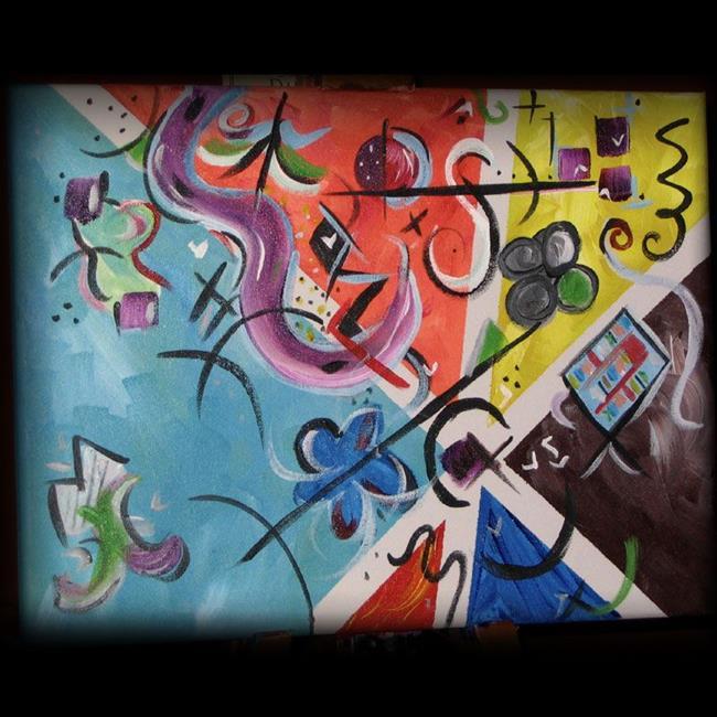 Art: Kandinksy - esque - FOR SALE by Artist Aimee Marie Wheaton