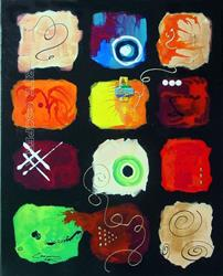 Art: Abstract  Quilt Wall Jewel # 101 by Artist Dottie Cooper Katz