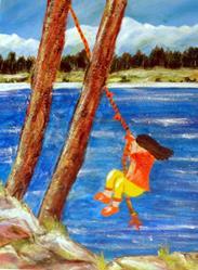 Art: Leap! by Artist Kathy Crawshay