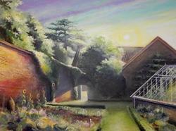 Art: September Morning in the Garden by Artist Justin Lowe