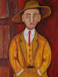 Art: Man In Golden Coat by Artist Richard Holland