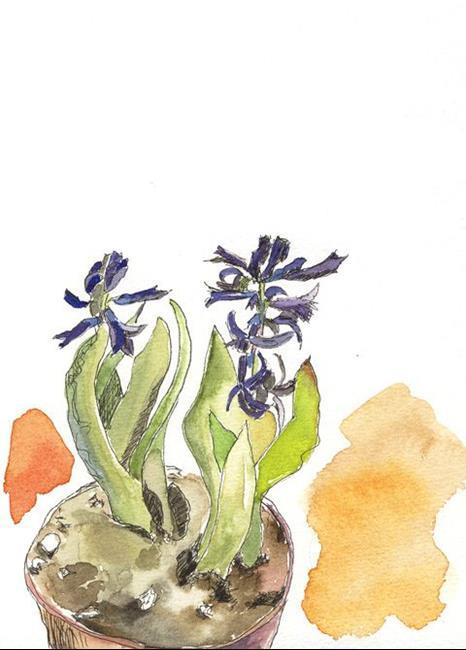 Art: Hyacinth sketch 03 by Artist Gabriele Maurus