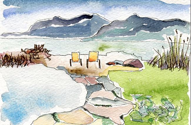 Art: Pool and Sea by Artist Gabriele Maurus