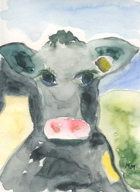 Art: DAYDREAMING COW by Artist Gabriele Maurus