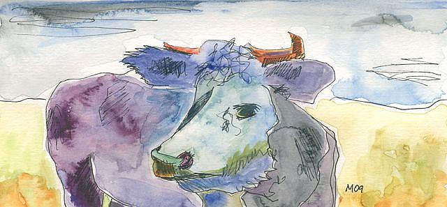 Art: MemorizingCow by Artist Gabriele Maurus