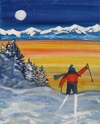 Art: Midnight Curry by Artist Kathy Crawshay