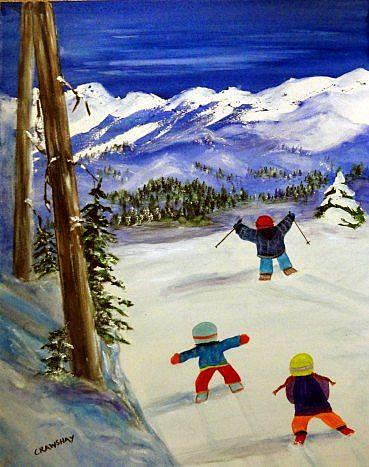 Art: Last Run (sold) by Artist Kathy Crawshay