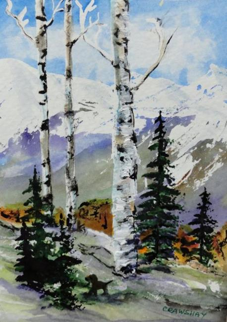 Art: Aspen Series #1 -sold by Artist Kathy Crawshay