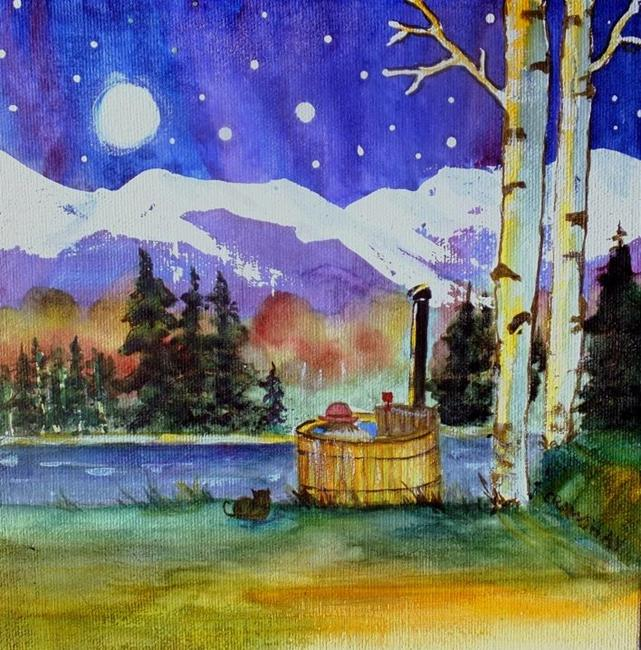 Art: The Good Life (sold) by Artist Kathy Crawshay