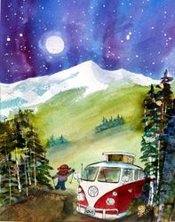 Art: Tripping by Artist Kathy Crawshay