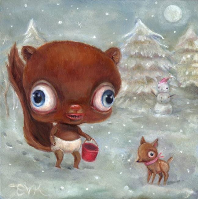 Art: Lunchbox, Lost at the North Pole by Artist Vicky Knowles