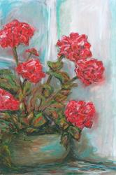 Art: Nan's Geraniums by Artist Aylan N. Couchie