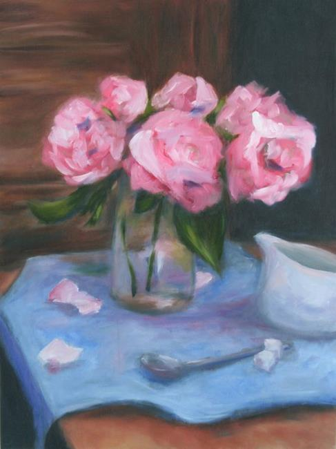 Art: Roses and Cream by Artist Aylan N. Couchie