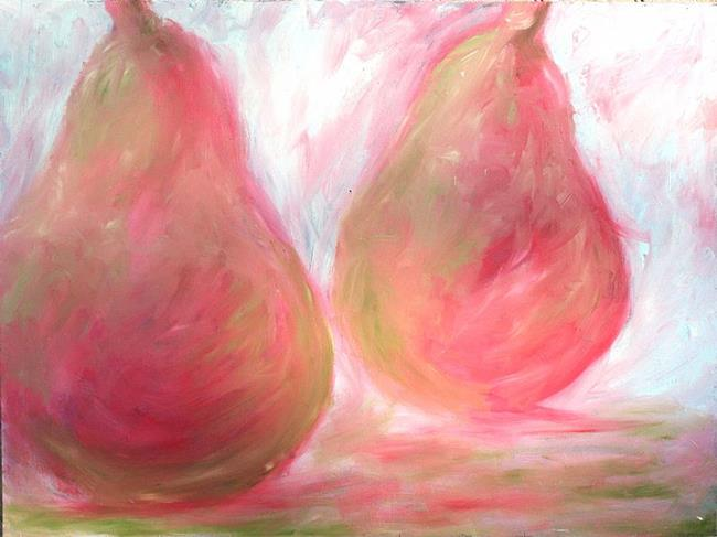 Art: Pear Study In Pink by Artist Aylan N. Couchie