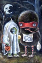 Art: Happy Wibbleween by Artist Vicky Knowles