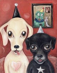 Art: Sasha, Angus & Friends by Artist Vicky Knowles