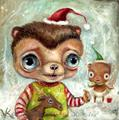 Art: Merry Christmas, Pickle Bear by Artist Vicky Knowles