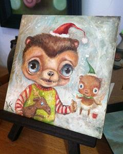 Detail Image for art Merry Christmas, Pickle Bear