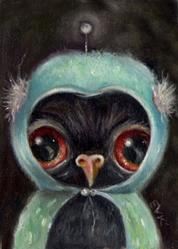 Art: Space Owl by Artist Vicky Knowles