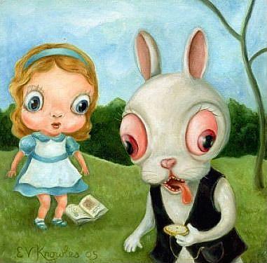 Art: Alice in Wibbleland by Artist Vicky Knowles
