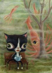 Art: Sparky's Dream by Artist Vicky Knowles