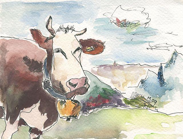 Art: SWISS COW by Artist Gabriele Maurus