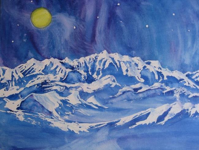 Art: Mount Logan (sold) by Artist Kathy Crawshay