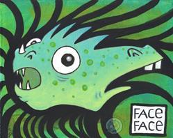 Art: Face Face by Artist Emily J White