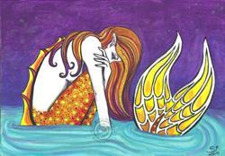 Art: Low Tide Mermaid (repaint) by Artist Emily J White