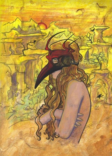 Art: Inner Bird 2 by Artist Emily J White