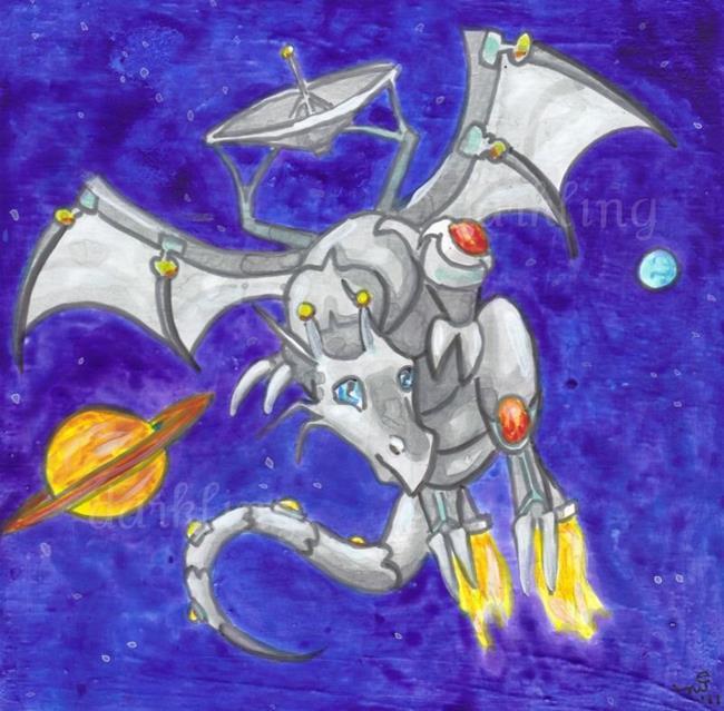 Art: Dragon Square #5 by Artist Emily J White