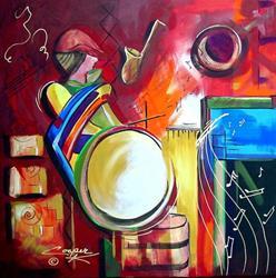 Art: Jazzy by Artist Dottie Cooper Katz