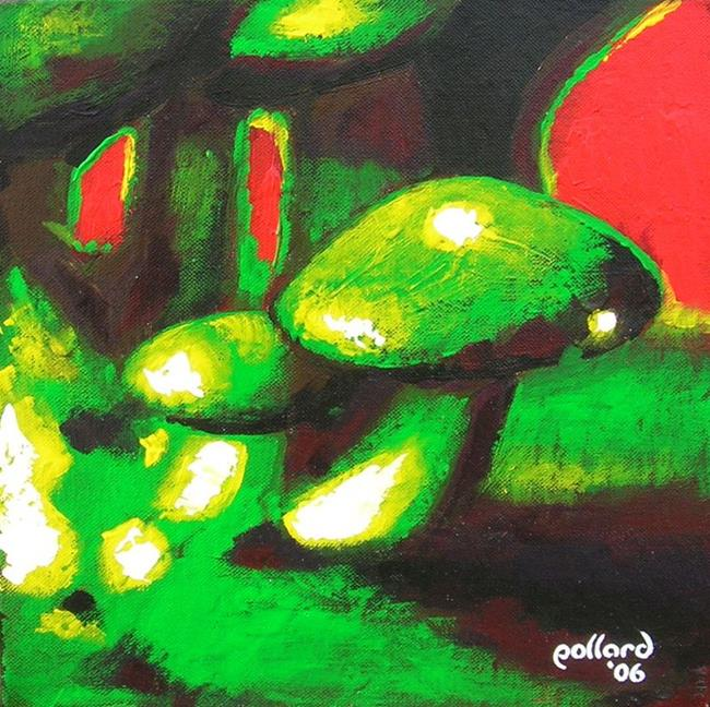 Art: psycho mushroom by Artist Glenn Pollard