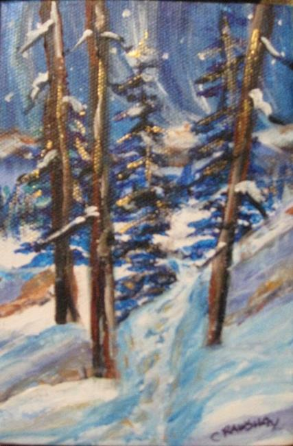 Art: On the Slope (sold) by Artist Kathy Crawshay