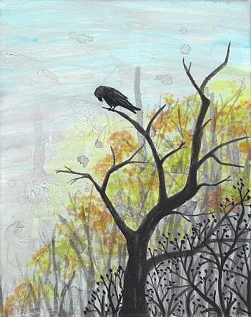 Art: Raven 21 by Artist Emily J White
