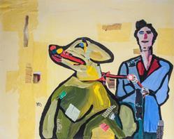 Art: Walking the master by Artist Gabriele M.