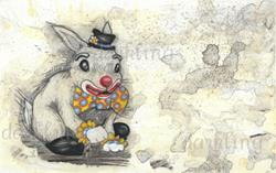 Art: Bun Bun the Clown by Artist Emily J White