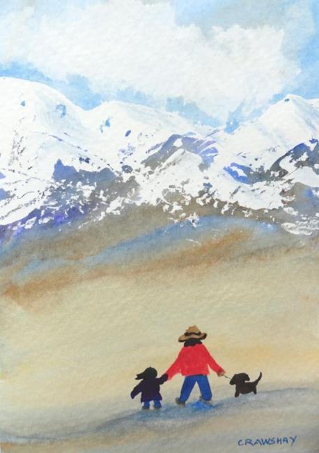 Art: The Three of Us (sold) by Artist Kathy Crawshay