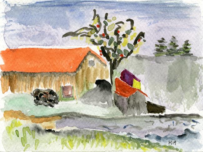 Art: Farm, somewhere by Artist Gabriele Maurus