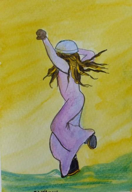 Art: Freedom (sold) by Artist Kathy Crawshay